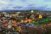 Superviaggio 2018 Georgia - Vista di Tbilisi al tramonto