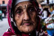 Ritratto di anziana donna marocchina