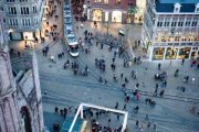Gent - vista sulla piazza dall'alto