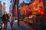 Bruges - vetrine natalizie