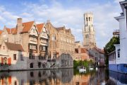 Bruges - canale con cigni