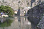 Kotor, Montenegro - Fortificazioni veneziane con mare