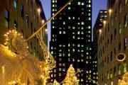 New York - Addobbi di Natale al Rockfeller Centre