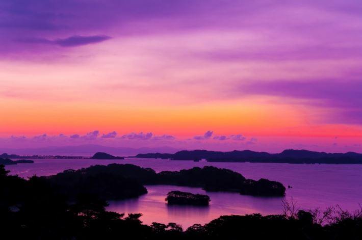 vacanze in giappone baia di matsushima all alba